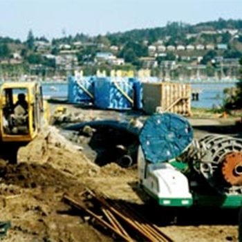 Pipeline Bores Under Yaquina Bay