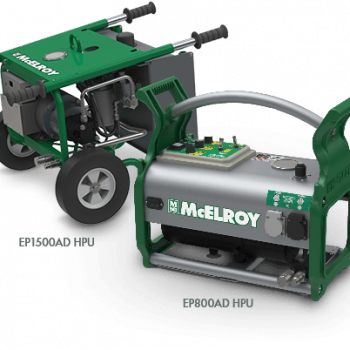 Two power options available with the Acrobat™ for polyethylene pipe