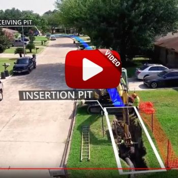 Video: Pipe bursting water main in Houston
