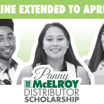 SCHOLARSHIP DEADLINE EXTENDED TO APRIL 15, 2021!