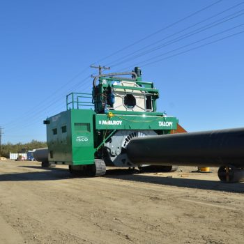 Irrigation Project Testing Ground for Large HDPE Pipe Installation