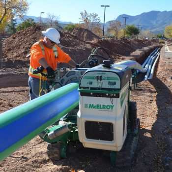 McElroy fusion machines provide leak-free connections at Fort Huachuca