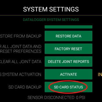 Auto Backup fusion records to an SD card on the DataLogger®
